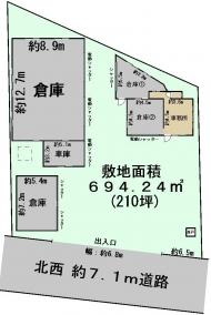 下志津原159-5貸倉庫図面