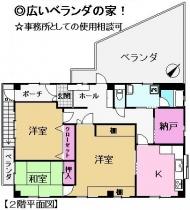 園生町406-68長谷川貸家2階部分図