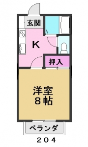 グリーンハイツ204号室